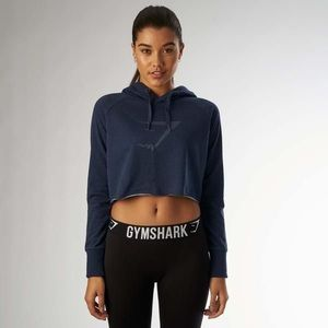 Gymshark Cropped Sweater in Sapphire Blue